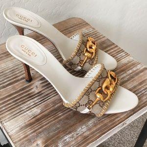 Gucci logo sandals